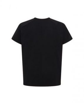 Mens black t shirt back